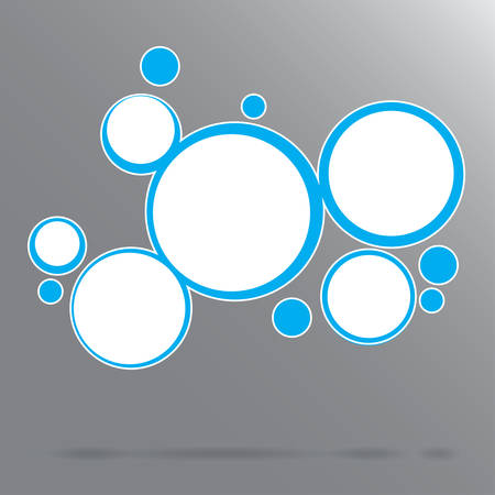 blue circles: Vector abstract background with circles. Blue circles. Illustration