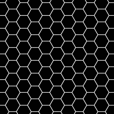 steel grille: Black and gray carbon background with hexagons. Vector eps10