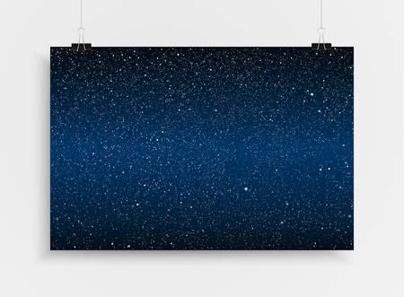 Abstract background. A poster on the wall at the terminals of the paper. Starry sky background. EPS 10. Illustration