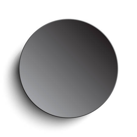 silver circle: Vector abstract background. Silver circle button on white background.