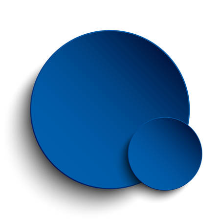 blue circle: Blue circle banner on a white background. Illustration