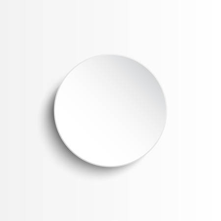 White circle banner on a white background.