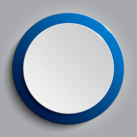 Blue circle banner on a white background.