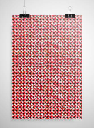 sheen: Abstract background. A poster on the wall at the terminals of the paper. Red sequin background. Illustration