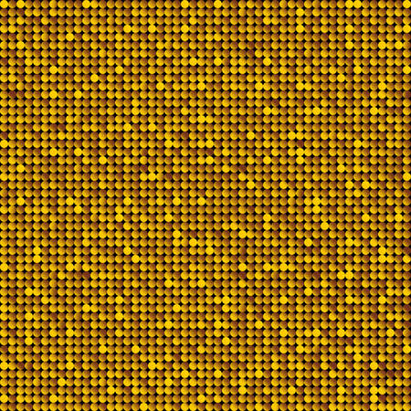 Background with shiny gold circles. Sparkle glitter background. Glittering sequins wall.