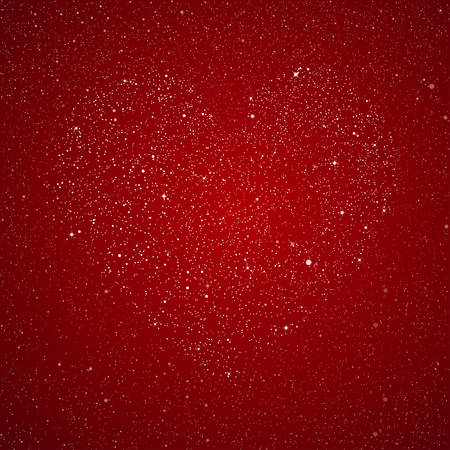 red sky: Heart of the stars on the red background of the starry sky.