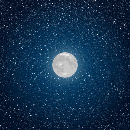 night sky stars: Vector realistic background. Starry night sky Stars Moon.