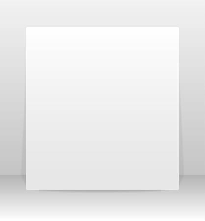 Set Of Paper Square Banner Template For Business Design Infographics Vector Illustration Mock