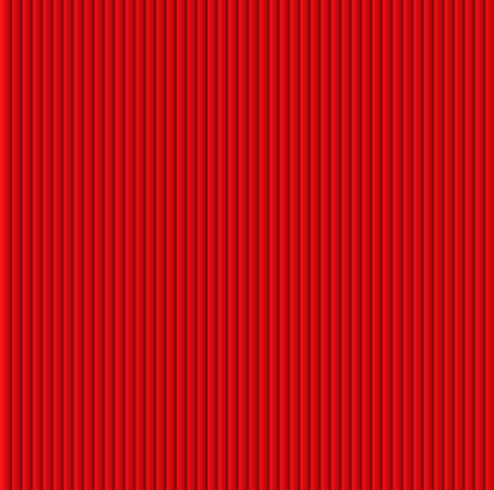 Pattern texture of crumpled paper in the volume of vertical lines for notes. Can be used for wallpaper, pattern fills, web page background, surface textures. Red galousie. Illustration