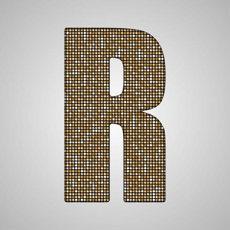 paillette: Letters, numbers and symbols in the form of gold sequins.