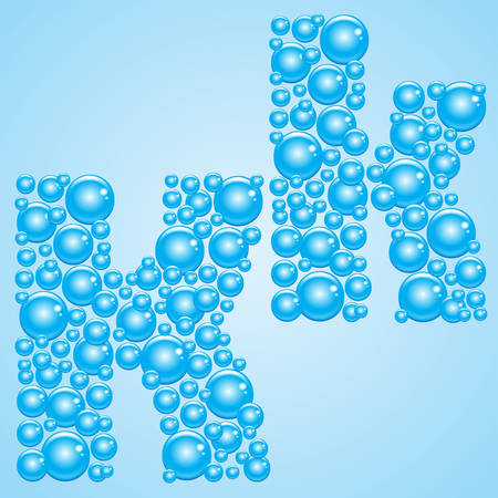 bubble water: Bubbles in blue on a light blue background.