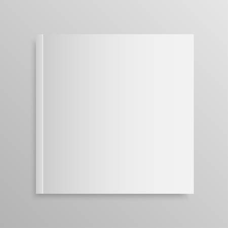 void: Blank empty magazine or book template lying on a gray background.