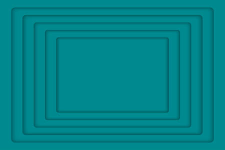 wed: Turquoise Concentric Rectangle Elements Background. illustration. Background with 5 Turquoise Rectangle from Shadow. Wed Design. Illustration