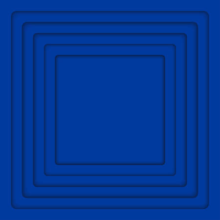 wed: Concentric Square Elements Background. illustration. Background with Blue 6 Squares from Shadow. Wed Design. Illustration