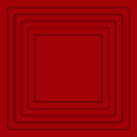 Concentric Square Elements Background. illustration. Background with Red 6 Squares from Shadow. Wed Design.