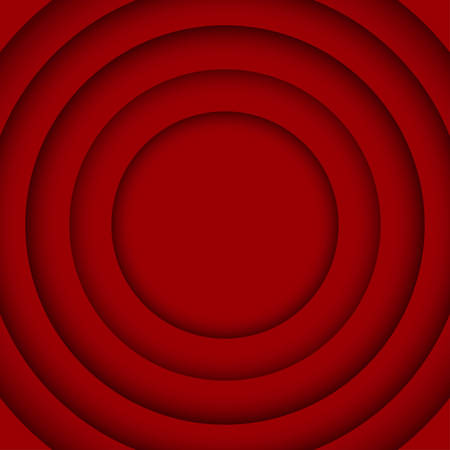 wed: Concentric Circle Red Elements Background. illustration. Background with 6 Circles from Shadow. Wed Design.