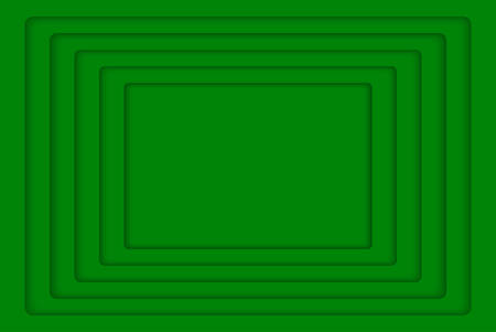 wed: Green Concentric Rectangle Elements Background. illustration. Background with 5 Green Rectangle from Shadow. Wed Design.