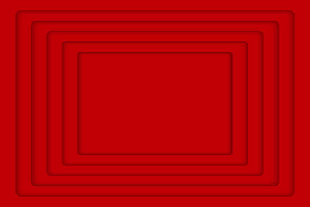 wed: Red Concentric Rectangle Elements Background. illustration. Background with 5 Red Rectangle from Shadow. Wed Design. Illustration