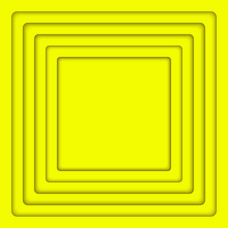wed: Concentric Yellow Square Elements Background. illustration. Background with 6 Squares from Shadow. Wed Design.