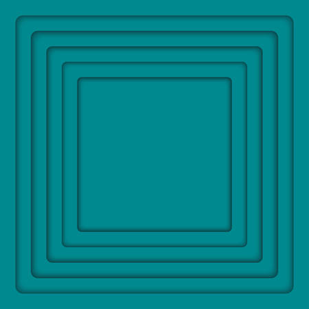 wed: Concentric Square Turquoise Elements Background. illustration. Background with 6 Squares from Shadow. Wed Design.