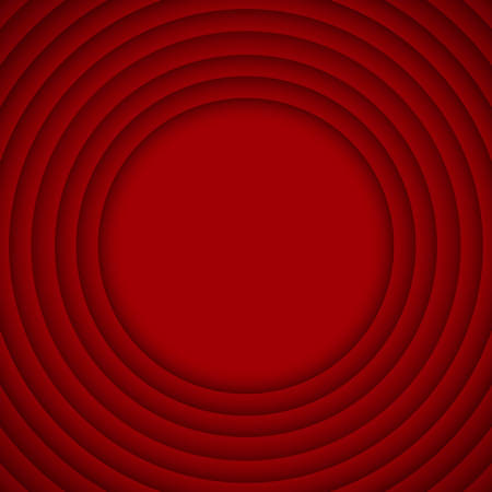 wed: Concentric Circle Red Elements Background. illustration. Background with 10 Circles from Shadow. Wed Design. Illustration