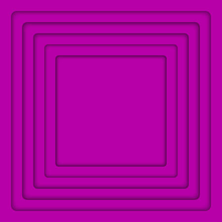 wed: Concentric Square Elements Background. illustration. Background with Purple Violet 6 Squares from Shadow. Wed Design.
