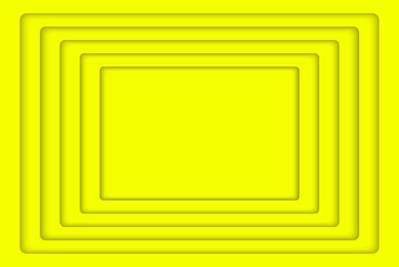 wed: Yellow Concentric Rectangle Elements Background. illustration. Background with 5 Yellow Rectangle from Shadow. Wed Design. Illustration