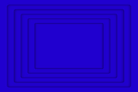 wed: Blue Concentric Rectangle Elements Background. illustration. Background with 5 Blue Rectangle from Shadow. Wed Design.