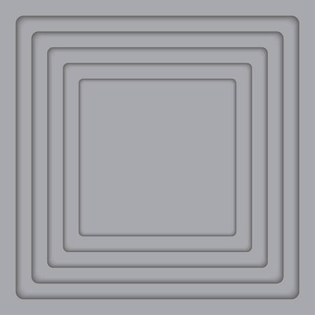 wed: Concentric Square Elements Background. illustration. Background with 6 Grey Squares from Shadow. Wed Design.