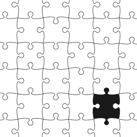 missing piece: Vector Background made from White Puzzle Pieces with One Black Missing. Piece Flat Puzzle Infographic Presentation. Step Circle Business. One Section Compare Service Banner.
