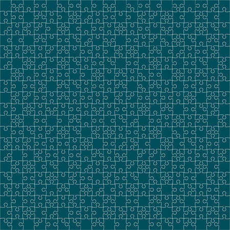 puzzles pieces: 400 Turquoise Puzzles Pieces Arranged in a Square - JigSaw - Illustration.