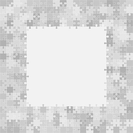 puzzles pieces: 400 Grey Puzzles Pieces Arranged in a Square - JigSaw - Illustration.