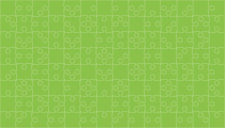 Green Puzzles Pieces Jigsaw - Vector Background.
