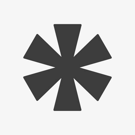 Star Icon, Asterisk. Flat Icon.