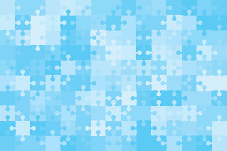 Vector Blue 150 Puzzles Pieces Jigsaw Illustration