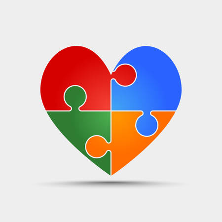 Colorful heart icon.