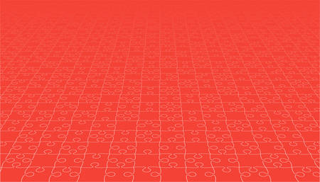 Red puzzles pieces icon.