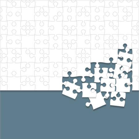 Puzzles pieces icon.