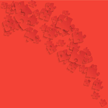 Red Puzzles Pieces - Jigsaw Vector Smoke