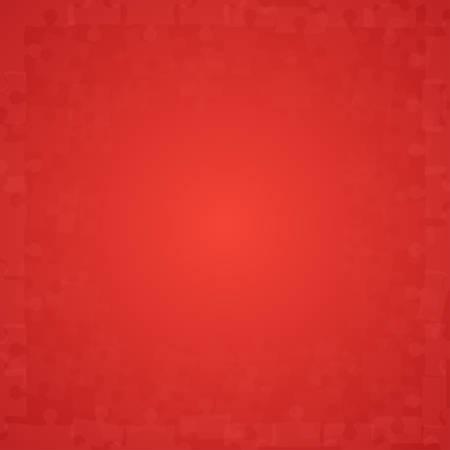 Icône de pièces de puzzle rouge.