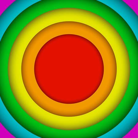 Cercles concentriques Lgbt Rainbow Flag. Couleurs gays. Banque d'images - 87116341