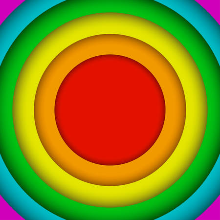Concentric Circles Lgbt Rainbow Flag. Gay Colors.