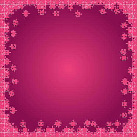 Pink Puzzles Transparents - Vector Jigsaw