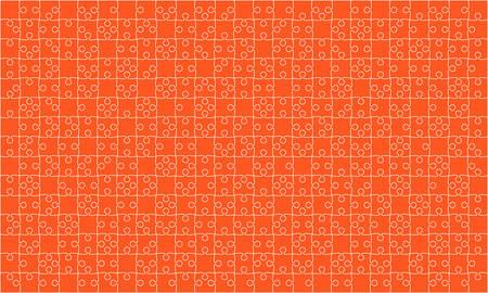 375 Orange Puzzles Pieces Jigsaw.