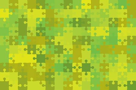 Vector Green Puzzle Pieces. Illustration