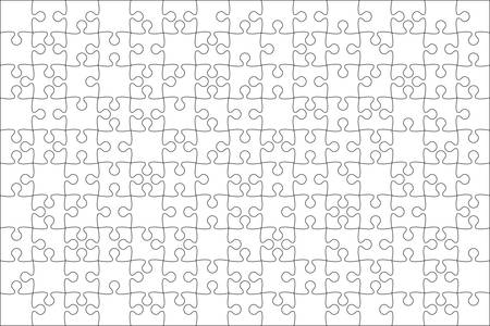 Vector White Puzzle Pieces.