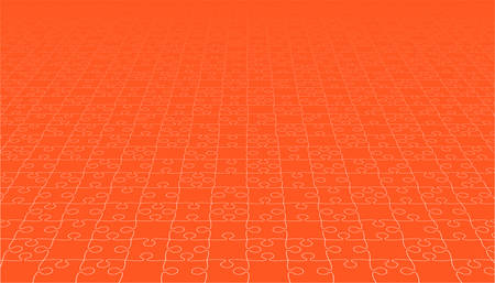 A Jigsaw puzzle blank template. Illustration