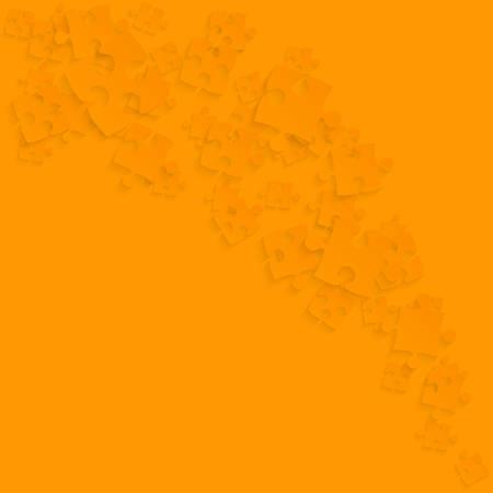 Orange Puzzles Pieces - Vector Smoke Puzzle