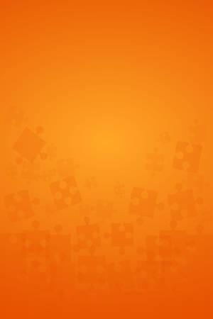 Pièces de puzzle orange transparent.
