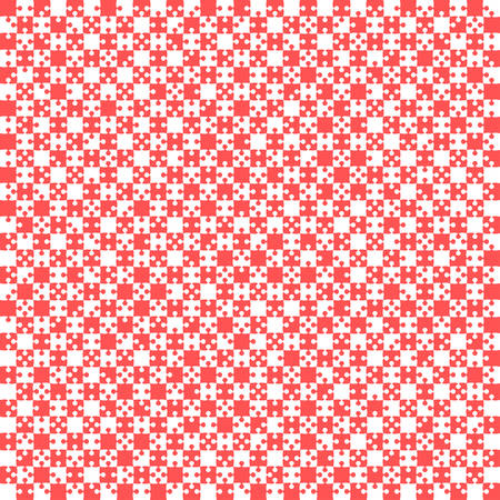 Red Material Design Pieces - JigSaw - Field Chess